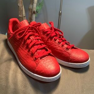 Adidas Stan smith red leather shoes